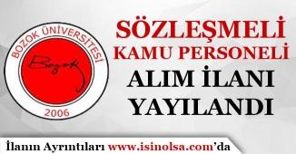 Yozgat Bozok Üniversitesi Sözleşmeli Kamu Personeli Alım İlanı Yayımlandı!
