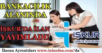 Bankacılık Alanında İŞKUR'da  8 İlan Yayınlandı