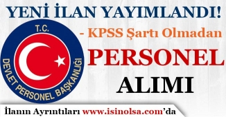 DPB'de Yeni Belediye Personel Alım İlanı Yayımlandı! KPSS Şartı Yok