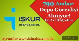 En Az İlkokul Mezunu 790 Ambar / Depo Görevlisi Alımı Yapılıyor!