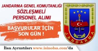 Jandarma Kadın Erkek Sözleşmeli Personel Alımı İçin Başvurular Bugün Son!