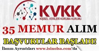 KVKK 35 Memur Alımı Başvuruları Başladı! KPSS Puanı İle