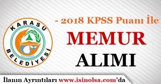 2018 KPSS Puanı İle Belediye'ye Memur Alımı İlanı Yayımlandı!