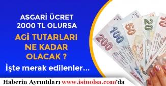 Asgari Ücrete 2000 TL Teklifi Gerçekleşirse AGİ Tutarları Ne Kadar Olacak?
