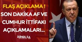 FLAŞ! Cumhurbaşkanı Erdoğan' dan Çok Önemli İttifak Açıklaması