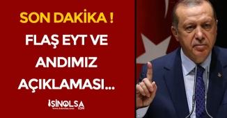 FLAŞ: Cumhurbaşkanı Erdoğandan Canlı Yayında EYT ve Andımız Açıklaması