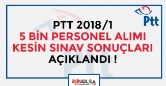 PTT 2018/1 5 Bin Personel Alımı Kesin Sınav Sonuçları Açıklandı! Sonuç Ekranı