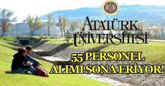 Atatürk Üniversitesi 55 Kamu Personeli Alımı İçin Başvurular Sona Eriyor!