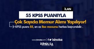 En Az 55 KPSS Puanıyla Çok Sayıda Zabıta ve Memur Personel Alımı Yapılıyor!