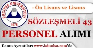 Erciyes Üniversitesi Sözleşmeli 43 Sağlık Personeli Alımı Yapıyor