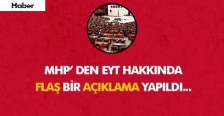 EYT Konusunda TBMM'de MHP' nin Flaş Açıklamaları