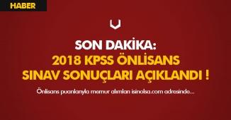 Son Dakika: 2018 KPSS Önlisans Sınav Sonuçları Açıklandı (ÖSYM Sonuç Ekranı)