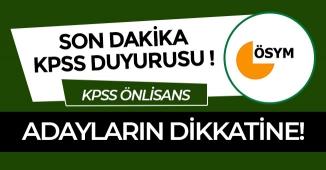 Son Dakika: ÖSYM'den Önemli KPSS Duyurusu!