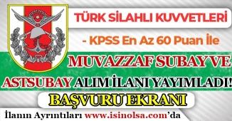 Türk Silahlı Kuvvetleri ( TSK ) 2018 Yılı Subay ve Astsubay Alım İlanı Yayımladı! Başvuru Ekranı