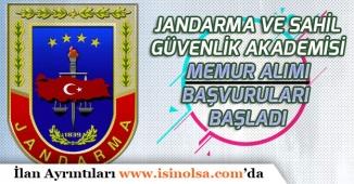 Jandarma ve Sahil Güvenlik Akademisi Memur Personel Alımı Başvurusu Başladı
