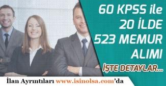 KPSS'den En az 60 Puan İle En Fazla 35 Yaşında 523 Memur Alımı!