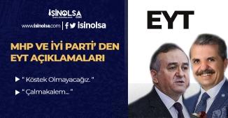 MHP ve İYİ Parti' den EYT Konusunda Son Dakika Açıklamaları! İşte Son Bilgiler