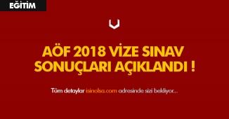 Son Dakika: AÖF 2018 Güz Dönemi Ara Sınav Sonuçları Açıklandı