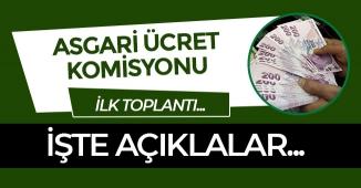 Son Dakika: Asgari Ücret Tespit Komisyonu İlk Açıklamasını Yapacak