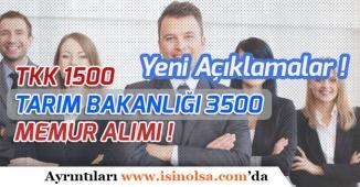 Tarım'a 3500 TTK'ya 1500 Memur Alımı Meclis Gündeminde!