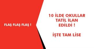 Ankara, İstanbul, Konya, Bolu ve Diğer İller - 07 Ocak' ta Kar Tatili İlan Edilen İller Var Mı?