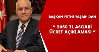 """Fethi Yaşar: """" 3 Bin TL' ye Yakın Asgari Ücret Maaşı Veriyoruz. """""""