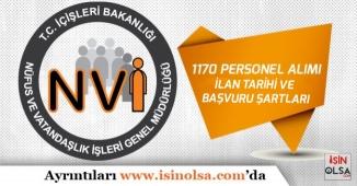 İçişleri Bakanlığı NVİ 1170 Memur Alımı Başvuru Şartları ve İlan Tarihi!