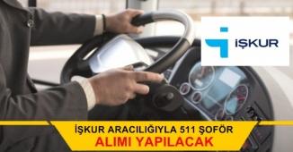İŞKUR Aracılığıyla 511 Şoför Alımı Yapacak (Makam, Yolcu, Yük Ve Otobüs)