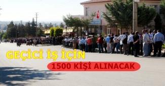İŞKUR Üzerinden 1500 Kişi İşe Alınacak (İlköğretim Mezunu)