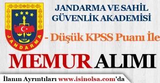 Jandarma ( JSGA ) Düşük KPSS Puanı İle Memur Alım İlanı