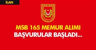 Milli Savunma Bakanlığı (MSB) 165 Memur Alacak! Başvurular Sürüyor