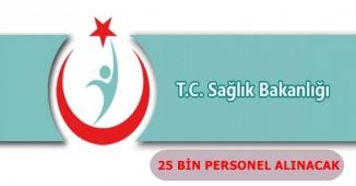 Sağlık Bakanlığı 25 Bin Kamu Personeli Alımı Yapacak