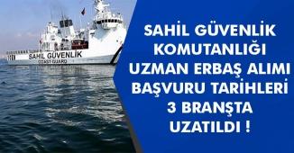 Sahil Güvenlik Komutanlığı Uzman Erbaş Alımı Yapacak! Adayların Dikkatine Başvurular Uzatıldı