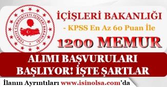 Bakanlığa 1200 Devlet Memuru Alımı Başlıyor! KPSS En Az 60 Puan ve En Az Lise Mezunu