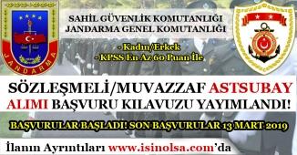 Jandarma ve Sahil Güvenlik Astsubay Alımı Başvuru Kılavuzu Yayımlandı! Başvurular Başladı!