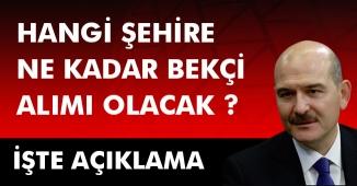 Mart Ayı 8 Bin Bekçi Alımı İstanbul Kadro Sayısı Belli Oldu! Diğer İller ve Dağılımlar Nasıl Olacak?