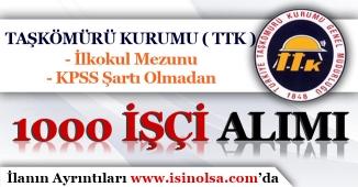 Taşkömürü Kurumu ( TTK ) İlkokul Mezunu 1000 İşçi Alım İlanı!