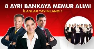 8 Ayrı Bankaya Çok Sayıda Banka Memuru Alımı Yapılacak!