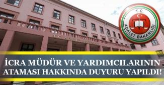 Adalet Bakanlığı İcra Müdür ve Yardımcılarının 2019 Yılı Atama Kararnamesi Duyurusu Yaptı