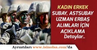 İçişleri Bakanlığı Jandarma Kadın Erkek Subay, Astsubay Uzman Erbaş Alımı Açıklaması