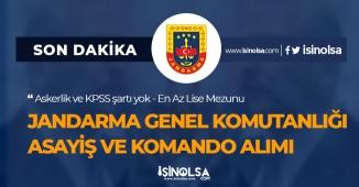 Jandarma Genel Komutanlığı Alımı Devam Ediyor! (Komando ve Asayiş)