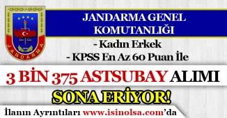 Jandarma Genel Komutanlığı ( JGK ) 2019 Yılı 3 Bin 375 Astsubay Alımı Sona Eriyor! Kadın Erkek