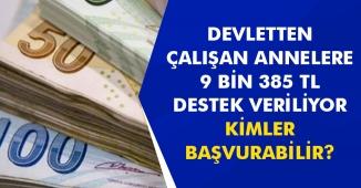 Son Dakika: Çalışan Anneye Devlet 9 Bin 385 Lira Veriyor! Kimler Başvurabilir