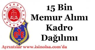 Adalet Bakanlığı 15 Bin Memur Alımı Branşlara Göre Kadro Dağılımı