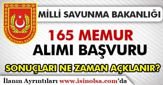 MSB 165 Memur Alımı Sonuçları 2019 Hala Açıklanmadı!