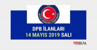 44 kişilik DPB alımı, 14 Mayıs 2019 ilanları listesi