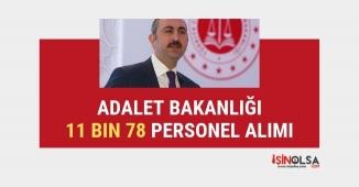 Adalet Bakanlığı 11 bin 78 personel alımı duyurusu