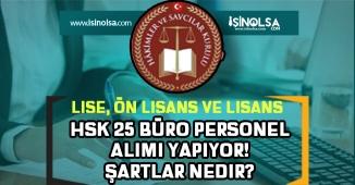 HSK Sözleşmeli Büro Personeli Alım İlanı! Lise, Ön Lisans ve Lisans