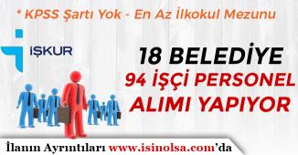 İŞKUR Üzerinde Belediye İşçi Personel ve Memur Alım İlanları 2019