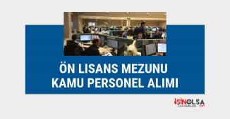 Önlisans mezunu kamu personel alım ilanları, 26 kişi alınacak